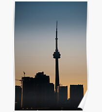CN Tower in Silhouette Poster