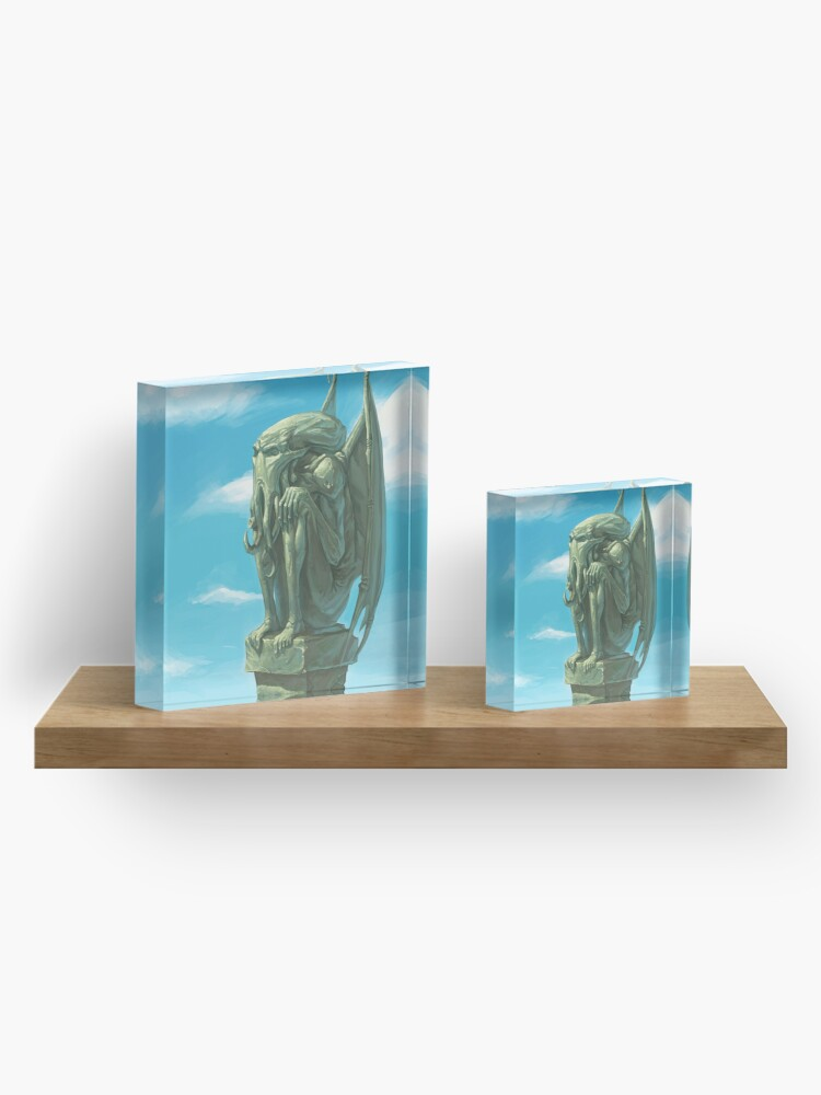 Alternate view of Cthulhu - The Silent Watcher Acrylic Block