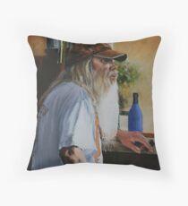 The Cigar Salesman Throw Pillow
