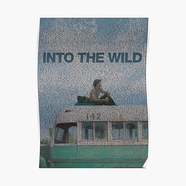 Portrait en texte d'Alexander Supertramp avec le scénario complet du film Into the Wild Poster