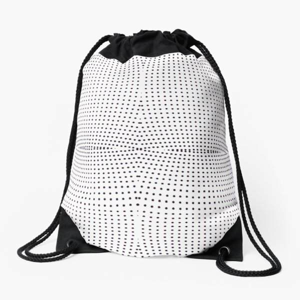 Grid, net, pattern, design, gradation, metallic, abstract, weaving, tile, fiber, halftone, repetition, spotted, textile, backgrounds, textured, geometric shape, square Drawstring Bag