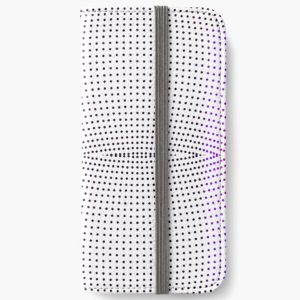 Grid, net, pattern, design, gradation, metallic, abstract, weaving, tile, fiber, halftone, repetition, spotted, textile, backgrounds, textured, geometric shape, square iPhone Wallet
