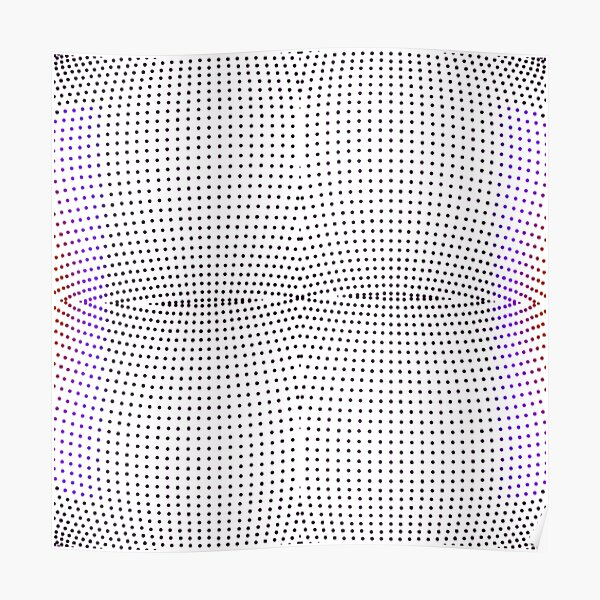 Grid, net, pattern, design, gradation, metallic, abstract, weaving, tile, fiber, halftone, repetition, spotted, textile, backgrounds, textured, geometric shape, square Poster