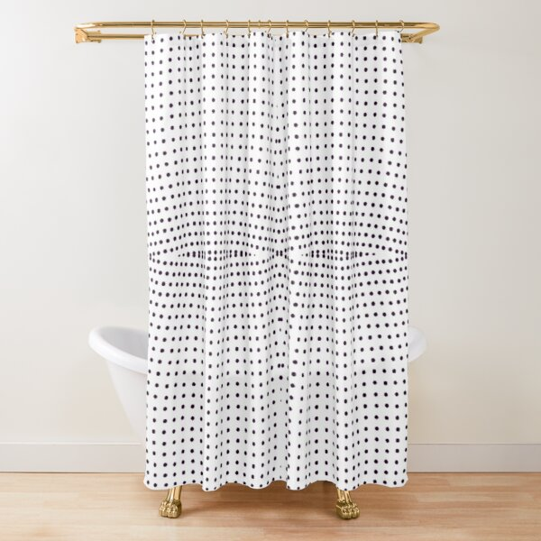 Grid, net, pattern, design, gradation, metallic, abstract, weaving, tile, fiber, halftone, repetition, spotted, textile, backgrounds, textured, geometric shape, square Shower Curtain