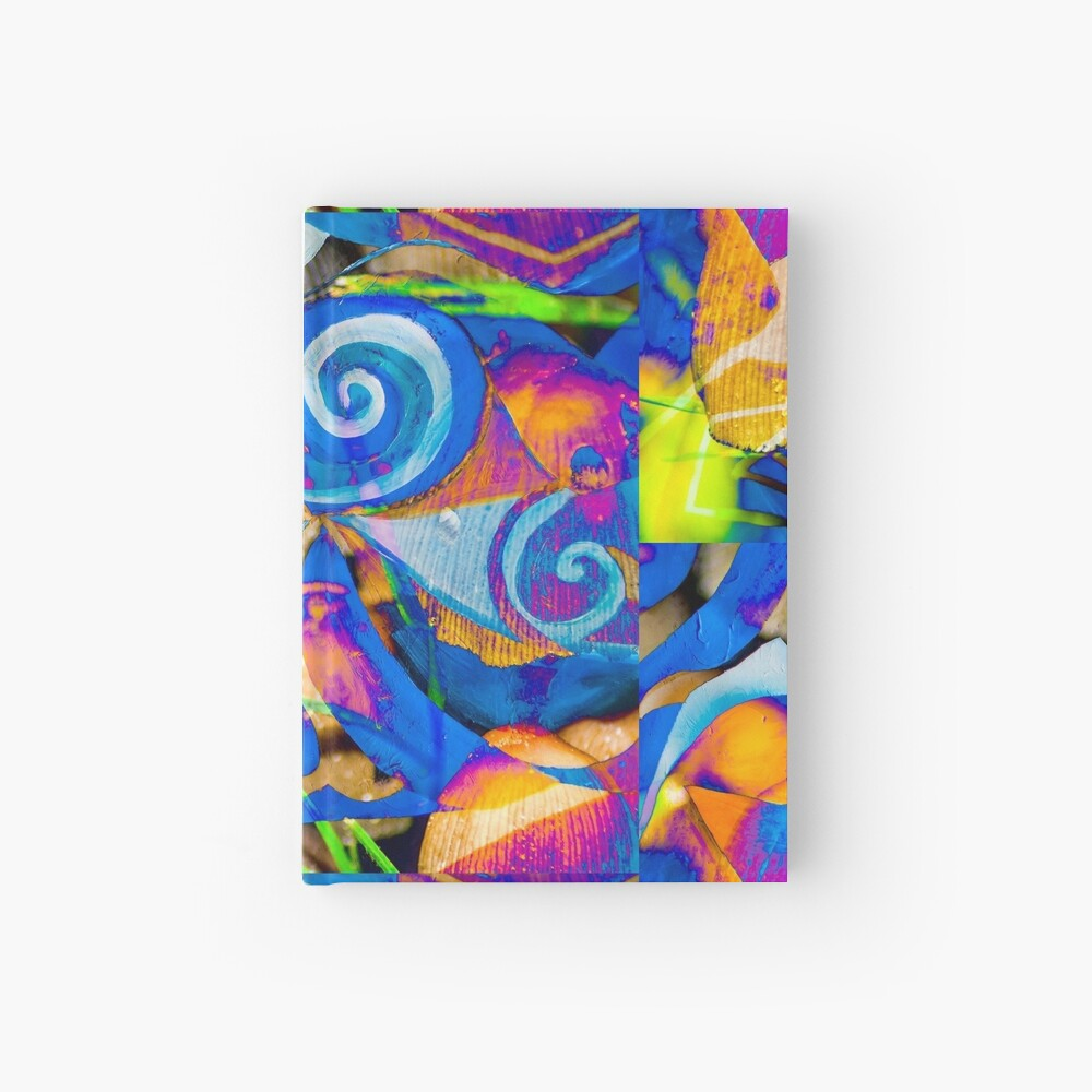 bright colors shapes abstraction Hardcover Journal