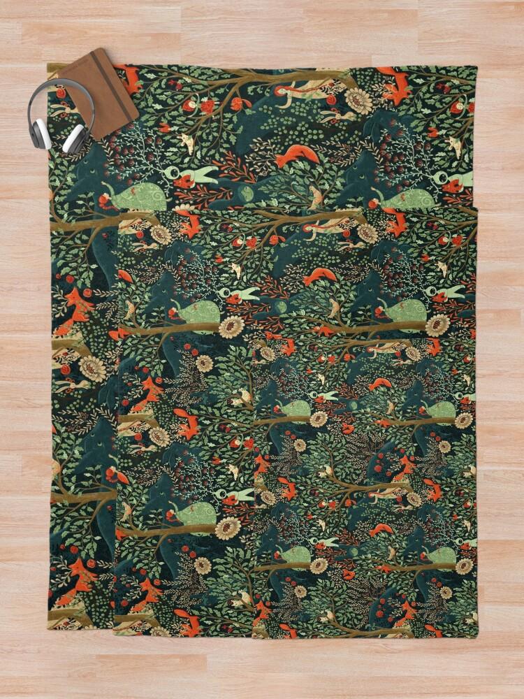 Alternate view of Whimsical Wonderland Throw Blanket