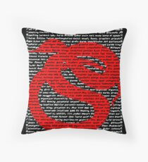 """The Year Of The Snake / Serpent""  Throw Pillow"