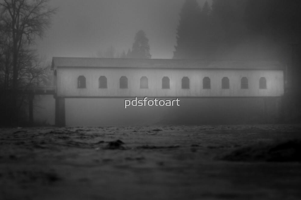 Historic covered bridge near Eugene Oregon by pdsfotoart