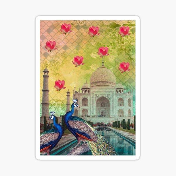 Taj Mahal Art Sticker