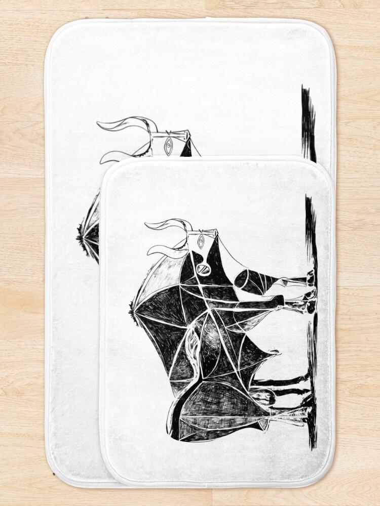 Alternate view of Picasso's Bull Bath Mat