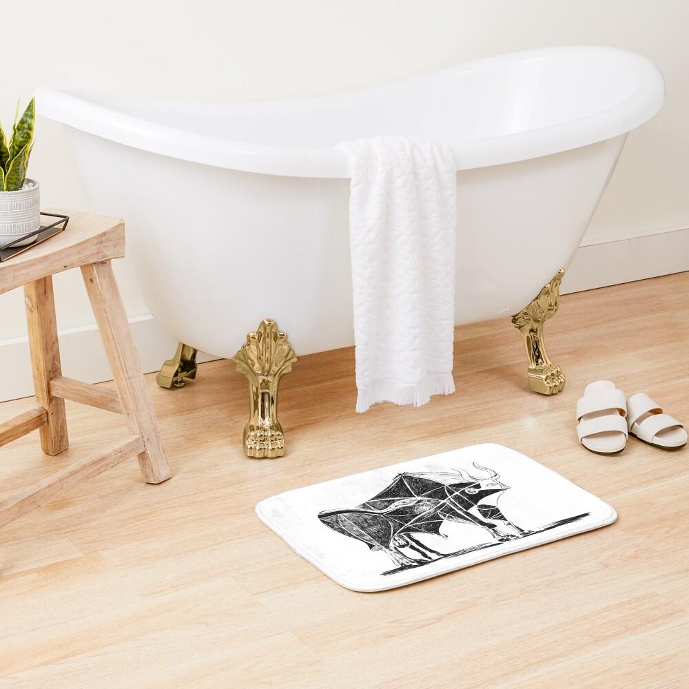 Picasso's Bull Bath Mat