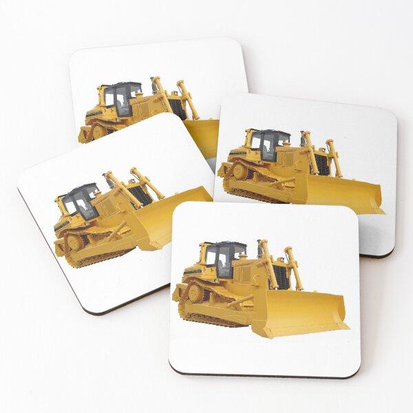 Bulldozer  Coasters (Set of 4)