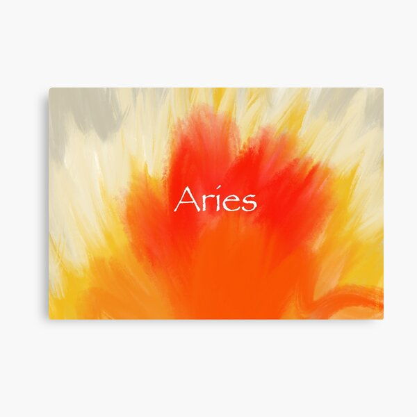 Aries Burst of Fire Canvas Print