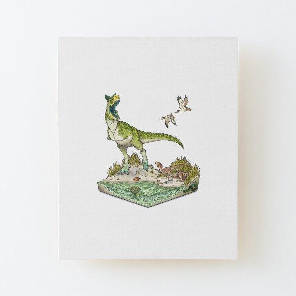 Carnotaurus Wood Mounted Print