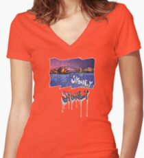 Sydney -small logo Women's Fitted V-Neck T-Shirt