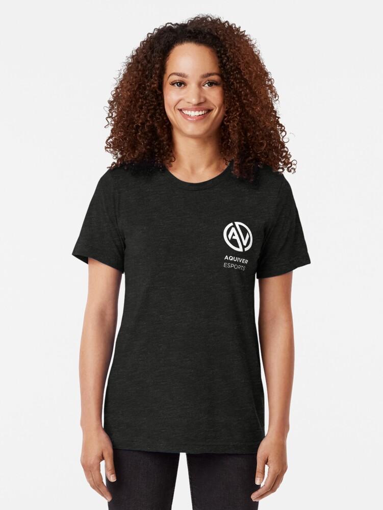 Alternate view of Aquiver Esports Tri-blend T-Shirt