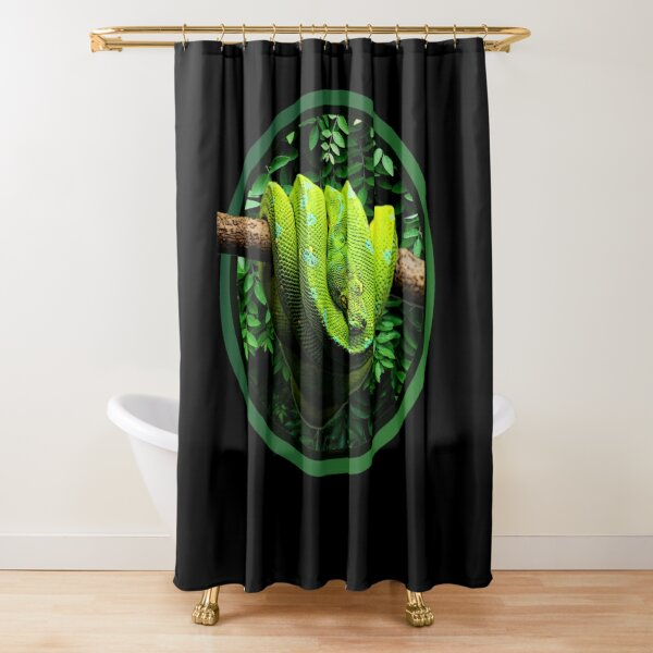 Green Tree Python Reptile Keepers Design Shower Curtain