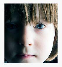 Low Key Childs Portrait Photographic Print