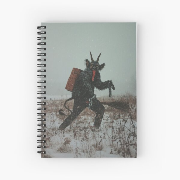 Krampus Spiral Notebook