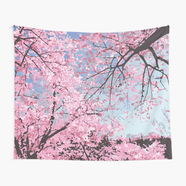 Cherry Blossom Tapestries Redbubble