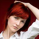 Portrait of Beautiful redheaded girl by Robert Ellis