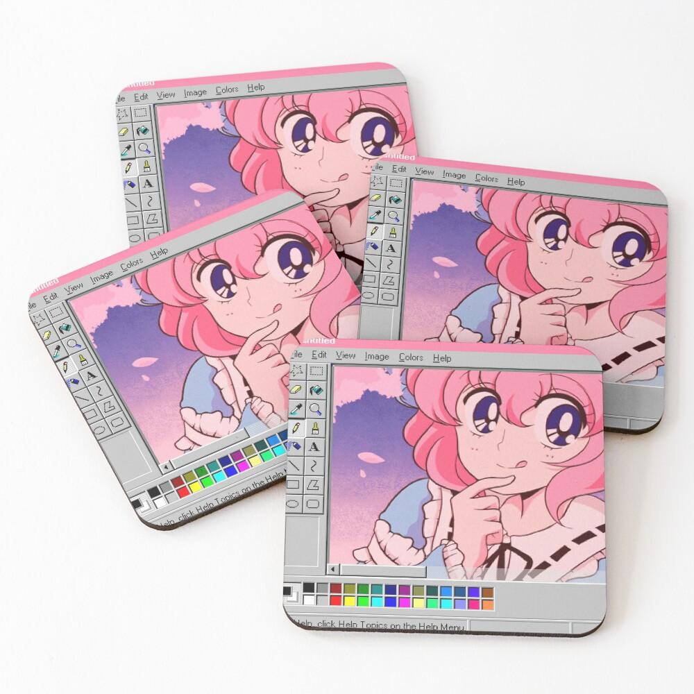Japanese Anime Coasters (Set of 4)