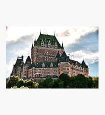 Chateau de Frontenac in Quebec City, Canada Photographic Print