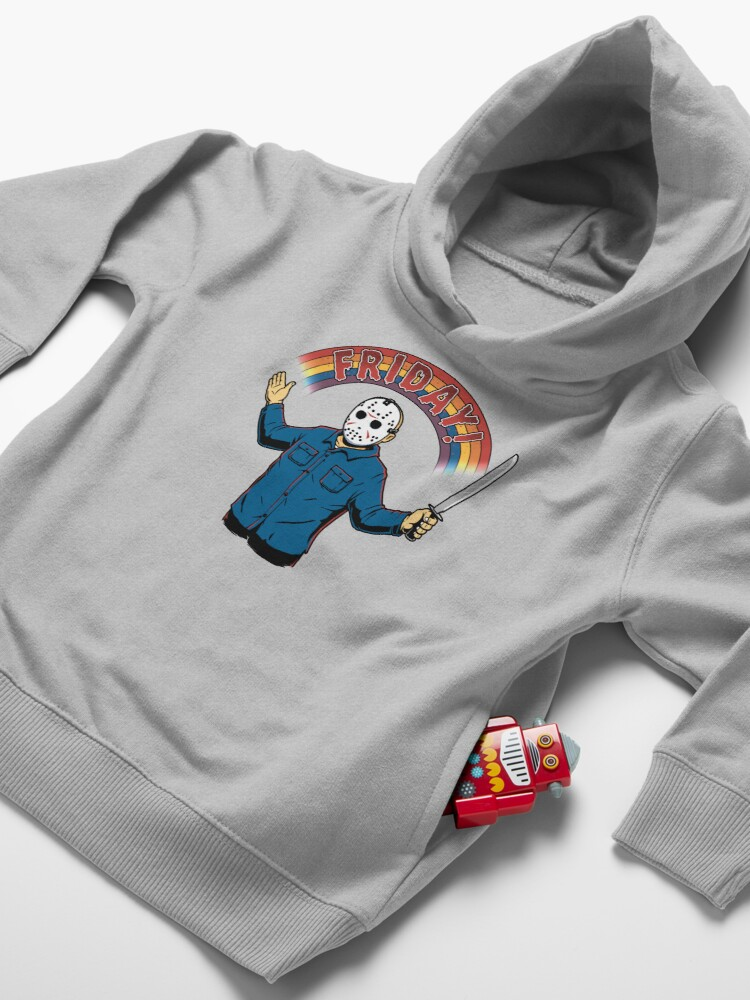 Alternate view of As long as we have Fridays! Toddler Pullover Hoodie