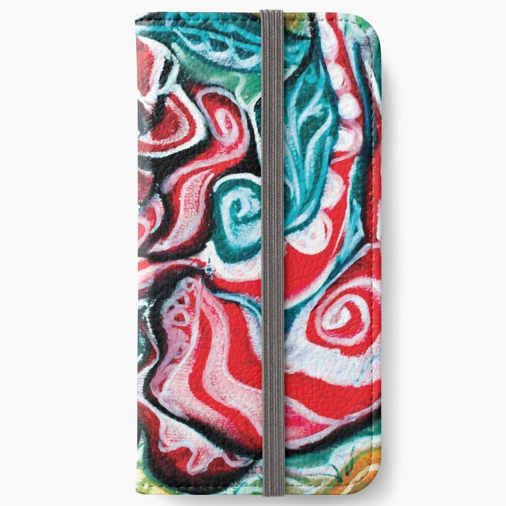 christmas colors present design iPhone Wallet
