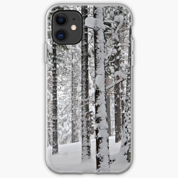 Grove of Snow-Flocked Pine Trees iPhone Soft Case