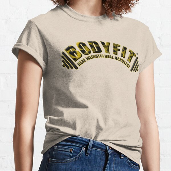 BODYFIT Cheetah Real Weights Real Results Logo Classic T-Shirt