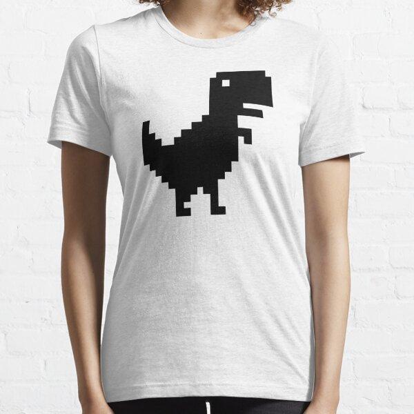 """Your Computer Is Offline"" Dinosaur (Chrome) Essential T-Shirt"
