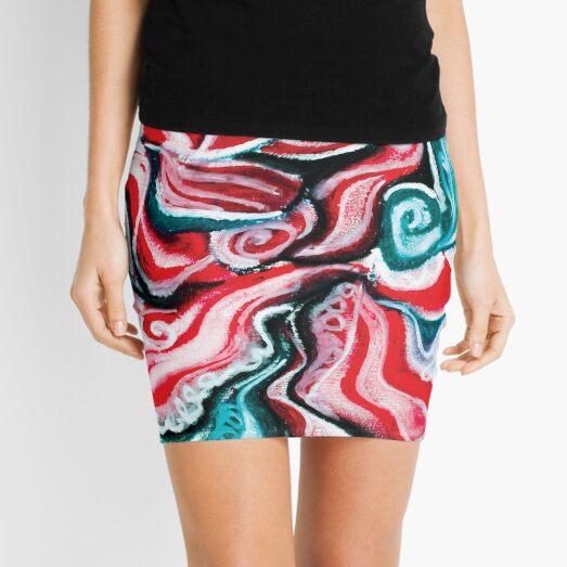 christmas colors present design Mini Skirt