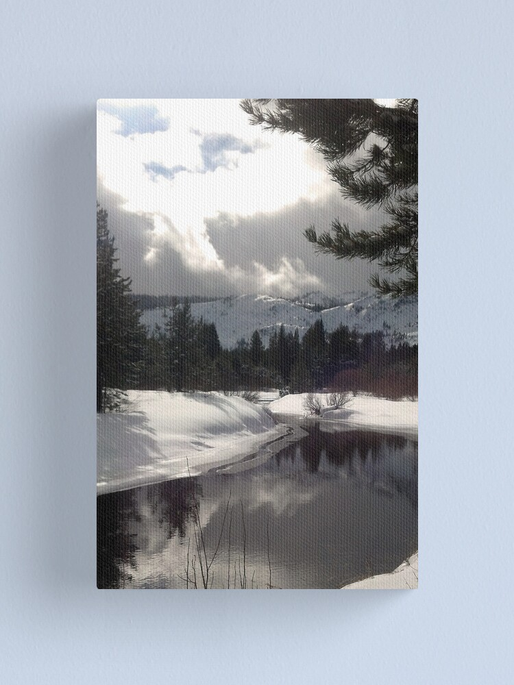 Alternate view of Break in the Clouds at the Upper Truckee River Canvas Print