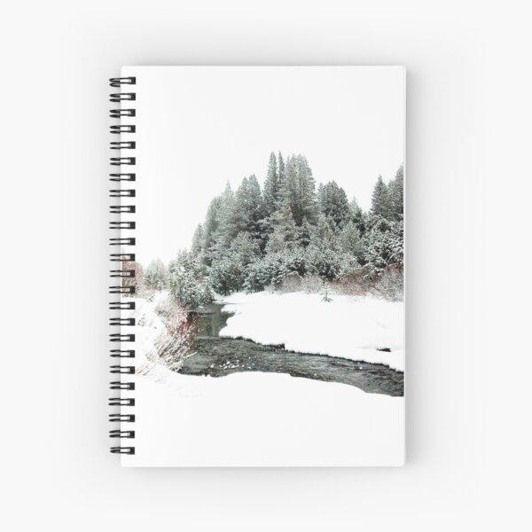 Snowy Upper Truckee River Spiral Notebook