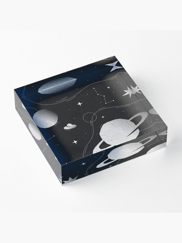 Alternate view of You are my universe Acrylic Block