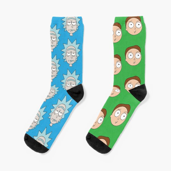 Rick And Morty Heads Pattern Socks