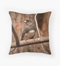 Slate Colored Junco Throw Pillow