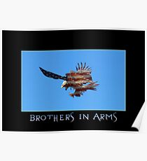 """""""Brothers in Arms"""" Patriotic Poster  Poster"""