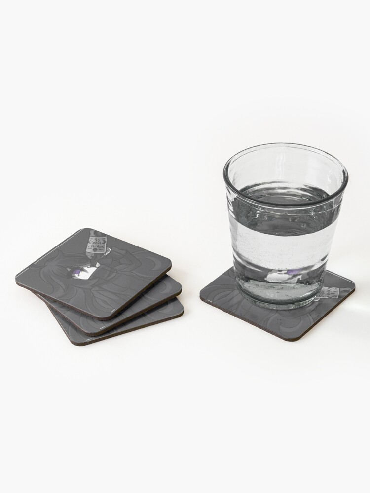 Alternate view of Squid Ink Chug Coasters (Set of 4)