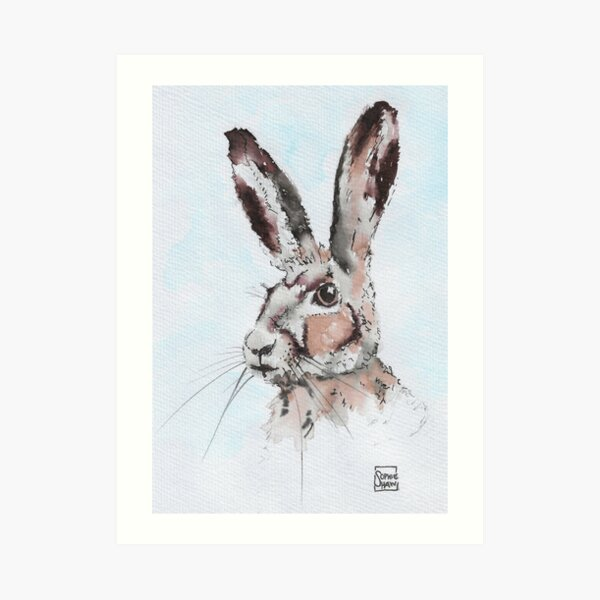 Hare Old and Wise Art Print