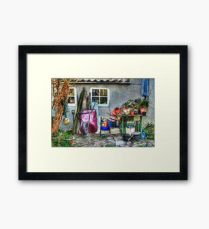 Janice's Garden Framed Print