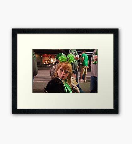Little Miss Saint Paddys Day Framed Print