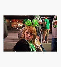 Little Miss Saint Paddys Day Photographic Print