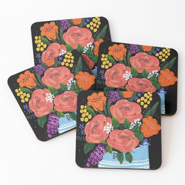 Romantic bouquet Coasters (Set of 4)