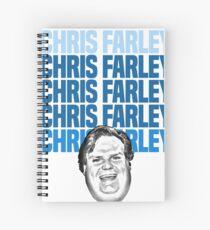 Chris Farley Nostalgia Happy face Graphic Spiral Notebook