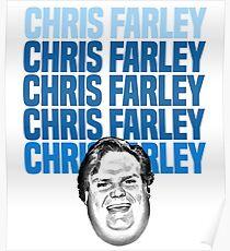 Chris Farley Nostalgie Glückliches Gesicht Grafik Poster
