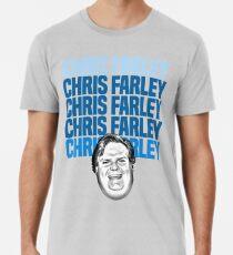 Chris Farley Nostalgie Glückliches Gesicht Grafik Premium T-Shirt