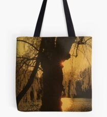 Sunset Behind the Tree Tote Bag