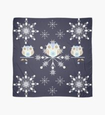 Snowflakes and cute owls Scarf